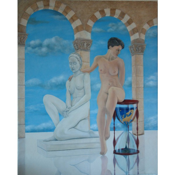Tableau peinture à l'huile - Regrets