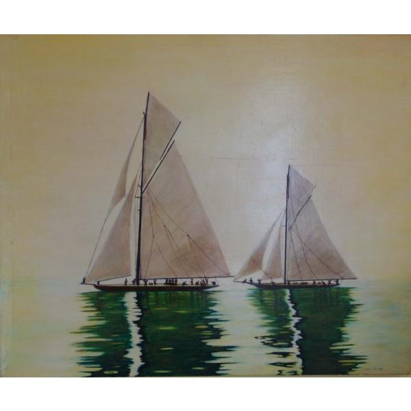 Tableau peinture à l'huile - Calme plat
