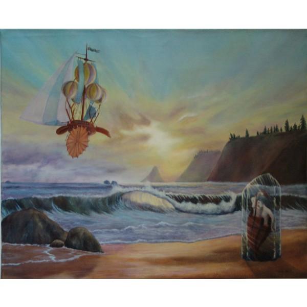 Tableau peinture à l'huile - Le chant des sirènes