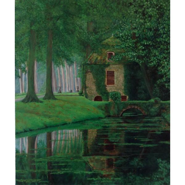 Tableau peinture à l'huile - Sous-bois