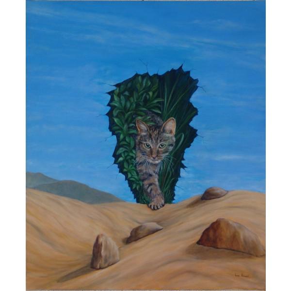 Tableau peinture à l'huile - Le chasseur