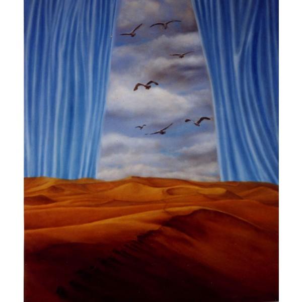 Toile peinture acrylique et huile - Le rêve D'Isabelle