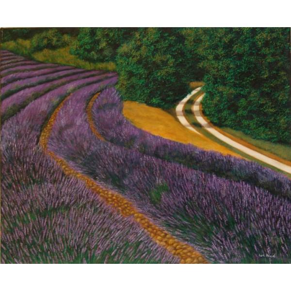 Tableau peinture à l'huile - Le sentier d'or