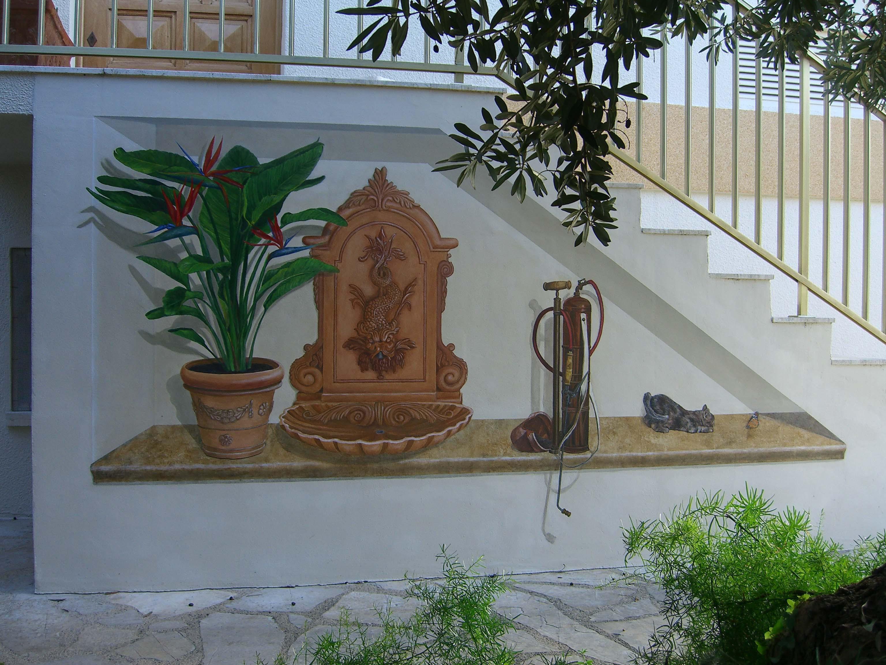 Peinture murale exterieur architecture design for Peintures murales nuancier