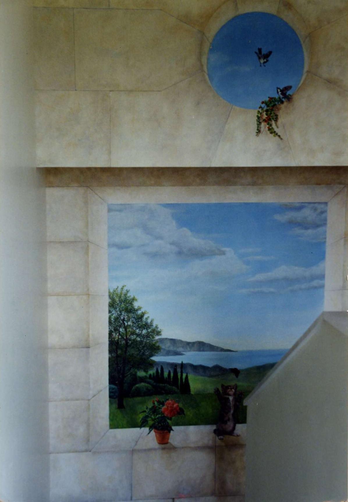Toile peinture acrylique maroufl e le chat de dani le for Peinture murale acrylique