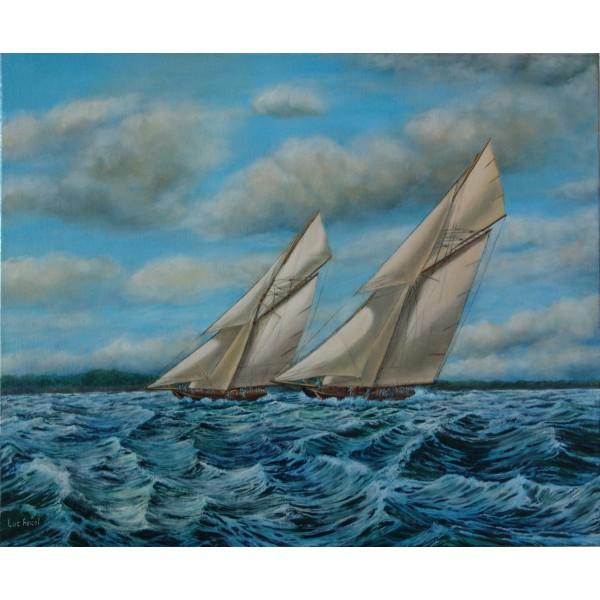 Oil and acrylic on canvas - race