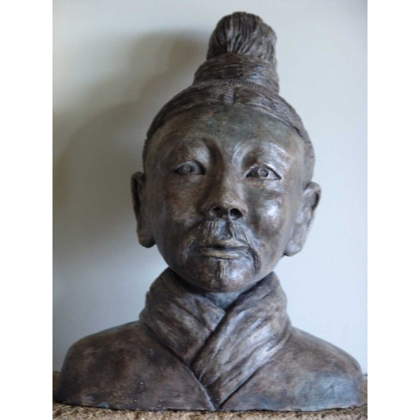 Statuette terre cuite et engobe - Guerrier de Xian